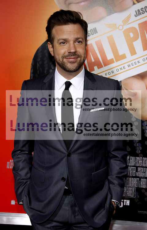 Jason Sudeikis at the Los Angeles premiere of 'Hall Pass' held at the ArcLight Cinemas in Hollywood on February 23, 2011. Credit: Lumeimages.com
