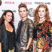NLD/Hilversum/20170905 - Perspresentatie Meisjes van Plezier, Britte Lagcher, Birgit Schuurman en Angela Schijf