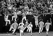 USC players celebrate with fans after their win over UCLA to claim the 2010 College World Series title at Rosenblatt Stadium in Omaha, Neb, Tuesday, June 29, 2010.
