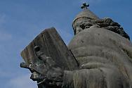 Sculpture of Grgur Ninski (Gregorius of Nin), the 11th century Croatian Bishop, by Ivan Mestrovic, behind Diocletian's Palace, Split, Croatia