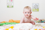 Baby Girl, crawling towards camera.