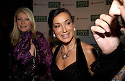 Giulia Costantini and Nancy Dell'Olio, British Red Cross tenth annual Ball. 'The Room' South Bank. London. 1 December 2004. ONE TIME USE ONLY - DO NOT ARCHIVE  © Copyright Photograph by Dafydd Jones 66 Stockwell Park Rd. London SW9 0DA Tel 020 7733 0108 www.dafjones.com
