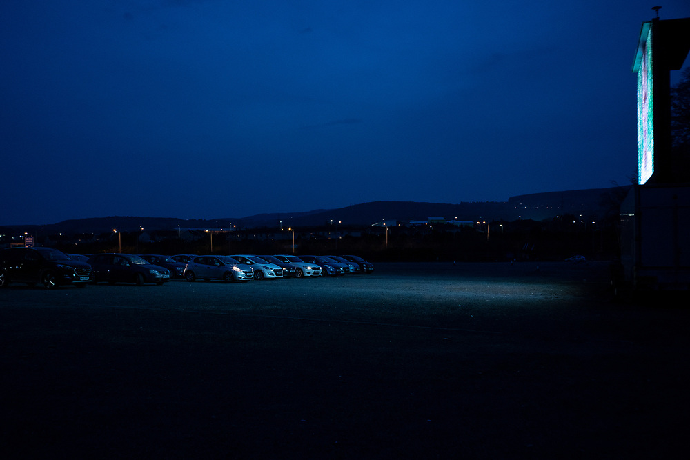 15) Despite the emergente popularity of drive-in theatre experience during the Coronavirus pandemic,  the authorities were forced to set up harsher restrictions on social gatherings due to the increasing of infections and deaths in the country. Dublin, Ireland - March 23, 2020.