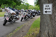 Laura Fong - Thousands of motorcycles line the roads inside Mount Peace Cemetery where Alcoholics Anonymous co-founder Dr. Bob is buried.