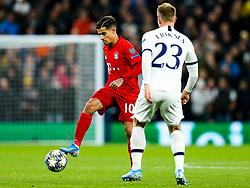 Philippe Coutinho of Bayern Munich is challenged by Christian Eriksen of Tottenham Hotspur - Rogan/JMP - 01/10/2019 - FOOTBALL - Tottenham Hotspur Stadium - London, England - Tottenham Hotspur v Bayern Munich - UEFA Champions League Group B.