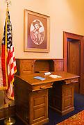 Desk in the Pioneer Courthouse (National Historic Landmark), Portland, Oregon