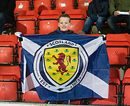 10th November 2017, McDiarmid Park, Perth, Scotland, UEFA Under-21 European Championships Qualifier, Scotland versus Latvia; Scotland fans