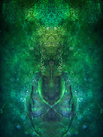 Shape shifting and transformation are present in this image of the underworld. Photographed underwater, this piece reminds us that life is ever changing and shifting. If we try to hold on to an experience or thought pattern too long, we begin to stagnate. <br />