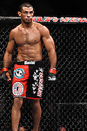 "ATLANTA, GEORGIA, SEPTEMBER 6, 2008: Roan Carneiro stands ready to fight during ""UFC 88: Breakthrough"" inside Philips Arena in Atlanta, Georgia on September 6, 2008"