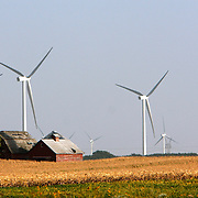 Power generating wind farms near Dwight, in central Illinois<br />