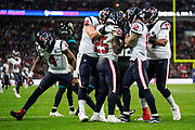 Touchdown, Houston Texans Running Back Duke Johnson (25) runs in a touchdown during the International Series match between Jacksonville Jaguars and Houston Texans at Wembley Stadium, London, England on 3 November 2019.
