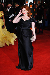 Christina Hendricks arrive for the 2012 ORANGE BRITISH ACADEMY FILM AWARDS, The Bafta's at The Royal Opera House, Covent Garden, London. Photo By I-Images