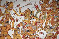 Indonesie. Bali. Peinture au palais royal de klungkung. // Indonesia. Bali. Royal palace of Klungkung.