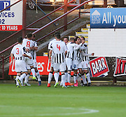 Faissal El Bahktaoul (second right) is congratulated after scoring the opener - Dunfermline Athletic v Dundee - Scottish League Cup at East End Park<br /> <br />  - &copy; David Young - www.davidyoungphoto.co.uk - email: davidyoungphoto@gmail.com