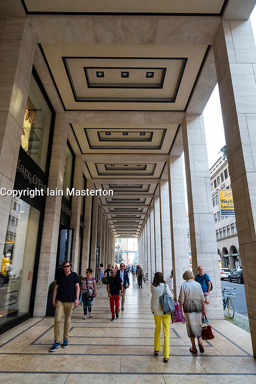 Upper Eastside shopping mall arcade on Friedrichstrasse in Mitte, Berlin, Germany