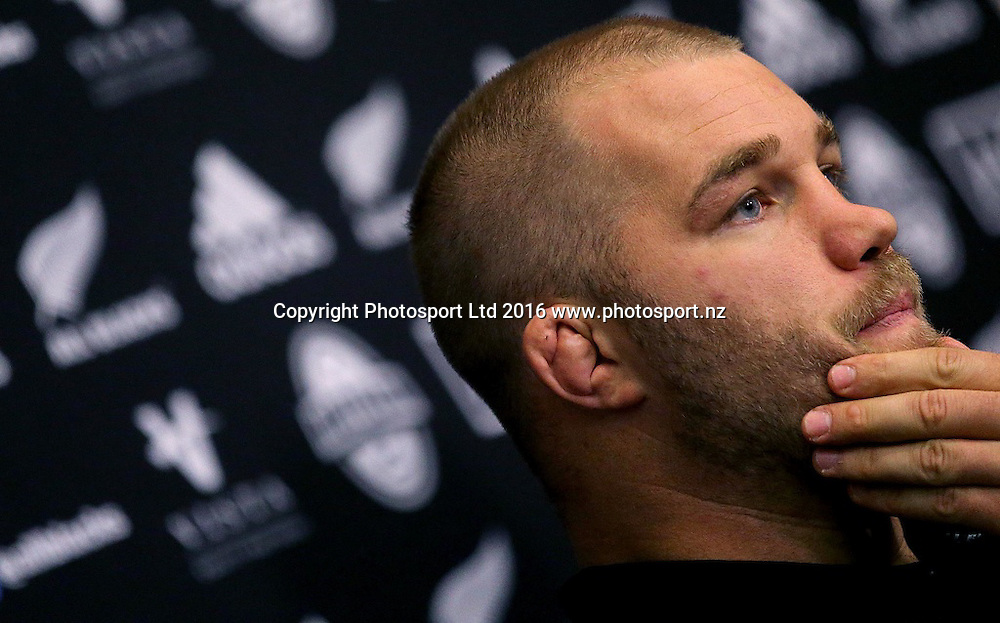 New Zealand Rugby Press Conference, Castleknock Hotel, Dublin 14/11/2016<br /> Owen Franks<br /> Mandatory Credit &copy;INPHO/Donall Farmer