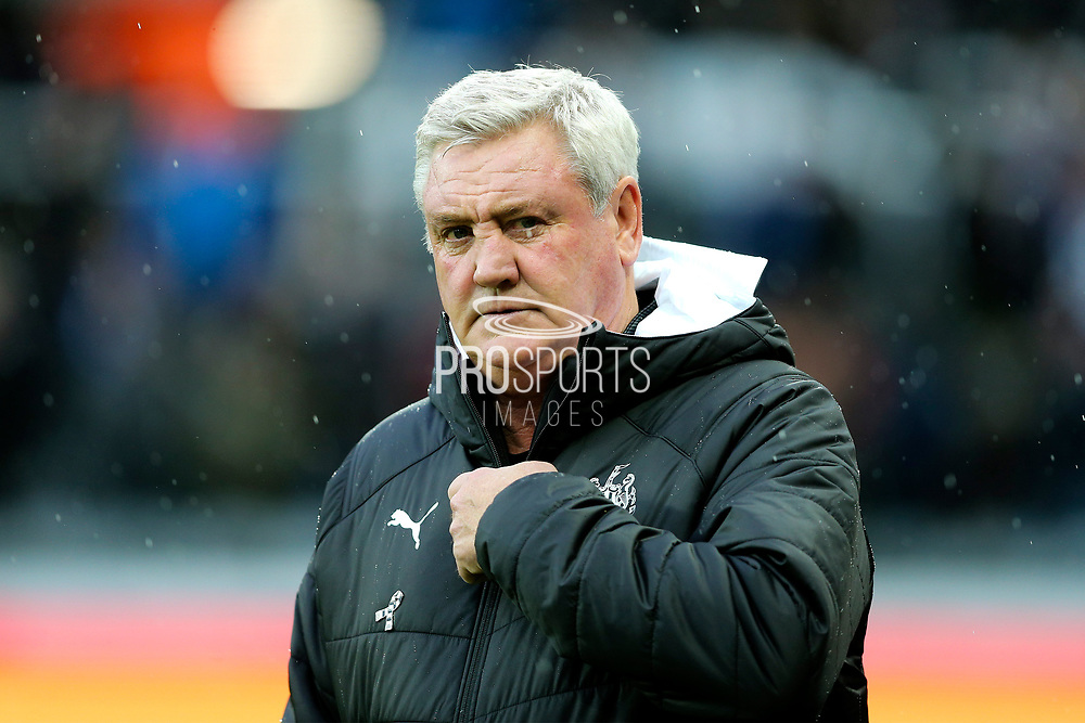 Newcastle United manager Steve Bruce during the Premier League match between Newcastle United and Southampton at St. James's Park, Newcastle, England on 8 December 2019.