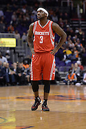 Feb 4, 2016; Phoenix, AZ, USA;  Houston Rockets guard Ty Lawson (3) stands on the court during the game against the Phoenix Suns at Talking Stick Resort Arena. Mandatory Credit: Jennifer Stewart-USA TODAY Sports