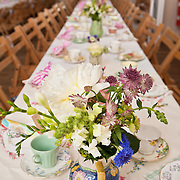 Wedding reception at village hall, Burnham Overy, Norfolk, UK