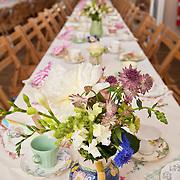 Wedding reception at village hall, Burnham Overy, Norfolk, UK