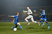 Ronan Curtis of Portsmouth in action  during the EFL Sky Bet League 1 match between Rochdale and Portsmouth at the Crown Oil Arena, Rochdale, England on 23 November 2019.