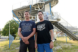 THEMENBILD - die Brüder Denis und Igor Vugrek betreiben den Vertikalwindtunnel in Zagreb. Aufgenommen in Kroatien am 16. Juni 2015. // Brothers Denis and Igor Vugrek set a vertical wind tunnel that simulates the free fall. Zagreb, Croatia on 16th June 2015. EXPA Pictures © 2015, PhotoCredit: EXPA/ Pixsell/ Davor Visnjic <br /> <br /> *****ATTENTION - for AUT, SLO, SUI, SWE, ITA, FRA only*****