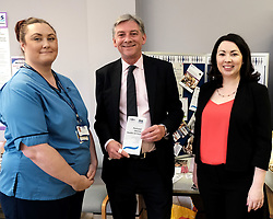 Scottish Labour leader Richard Leonard and Health spokesperson Monica Lennon met with midwives in NHS Lanarkshire, ahead of a Scottish Labour debate which calls on the SNP Government to invest an additional &pound;10 million for the implementation of Best Start and to investigate claims that midwives are not being given sufficient resources to do their jobs.<br /> <br /> Scottish Labour will use parliamentary time this week to call on the SNP Government to investigate reports that midwives do not have enough resources to do their jobs safely.<br /> <br /> Concerns have been raised in an open letter by midwives in NHS Lothian, which claim they do not have enough computers, equipment and pool cars.<br /> <br /> Scottish Labour have also called for an additional &pound;10 million to be allocated towards the implementation of the Best Start recommendations, to ensure that midwives are given adequate time, training and resources.<br /> <br /> Scottish Labour Health Spokesperson Monica Lennon said:<br /> <br /> &ldquo;Midwives play a crucial role in caring for women and babies. The best way of recognising their contribution to our NHS is by making sure they have enough resources to do their jobs safely.<br /> <br /> &ldquo;That&rsquo;s why Scottish Labour is calling on the SNP Government to investigate reports about a lack of equipment and resources, and to provide an additional &pound;10 million towards the implementation of the Best Start recommendations.<br /> <br /> &ldquo;The Health Secretary must listen to the concerns of midwives and take urgent action to address the workforce crisis.&rdquo;<br /> <br /> Pictured: Richard Leonard and Monica Lennon chat to midwife Elaine Daly<br /> <br /> Alex Todd | Edinburgh Elite media