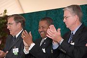 18414Academic & Research Center Groundbreaking September 29, 2007..Charles Stuckey, Ohio University, President Roderick J. McDavis, and Rick Vincent