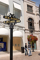 Tourists at Rodeo Drive, Beverly Hills, California