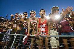 September 18, 2010; Stanford, CA, USA; Stanford Cardinal fans cheer in the stands before the game against the Wake Forest Demon Deacons at Stanford Stadium.