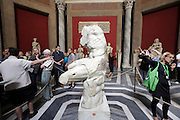 tourist guides at the Belvedere torso Vatican Museum