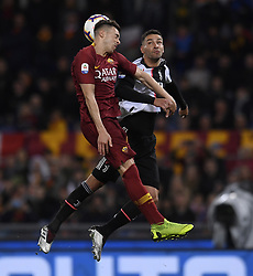 ROME, May 13, 2019  FC Juventus's Mattia De Sciglio (R) vies with Roma's Stephan El Sharaawy during a Serie A soccer match between Roma and FC Juventus in Rome, Italy, May 12 , 2019. Roma won 2-0. (Credit Image: © Xinhua via ZUMA Wire)