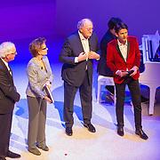NLD/Amsterdam/20151123 - 5 jaar Delamar theater en 10 Jaar Van den Ende Foundation viering, Janine Klijburg en partner Joop van den Ende, Cornald Maas  en ............