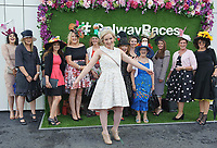 06/08/2017   The Hen Claudine Loughrey from Offaly with the rest of her party at the Galway Races on the last day of the Summer festival.  Andrew Downes, xposure