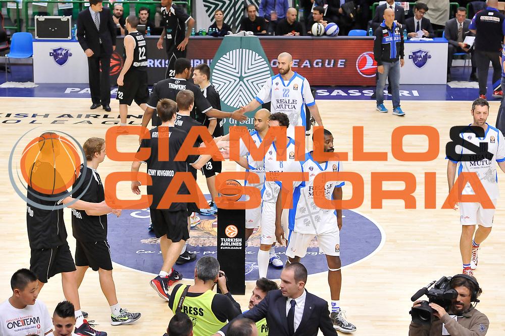 DESCRIZIONE : Eurolega Euroleague 2014/15 Gir.A Dinamo Banco di Sardegna Sassari - Nizhny Novgorod<br /> GIOCATORE : Team<br /> CATEGORIA : Before Fair Play<br /> SQUADRA : Dinamo Banco di Sardegna Sassari<br /> EVENTO : Eurolega Euroleague 2014/2015<br /> GARA : Dinamo Banco di Sardegna Sassari - Nizhny Novgorod<br /> DATA : 21/11/2014<br /> SPORT : Pallacanestro <br /> AUTORE : Agenzia Ciamillo-Castoria / Luigi Canu<br /> Galleria : Eurolega Euroleague 2014/2015<br /> Fotonotizia : Eurolega Euroleague 2014/15 Gir.A Dinamo Banco di Sardegna Sassari - Nizhny Novgorod<br /> Predefinita :