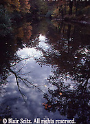 Sky and Fall Foliage Reflections, Sherman's Creek, Perry Co., PA