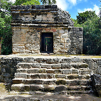 Templo Nohoch Nah at San Gervasio near San Miguel, Cozumel, Mexico<br />