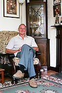 Graham Burton is in his 70s. He has been living in his North Wingfield (in North Derbyshire) prefab for more than 20 years. He even bought his 'Tarran' - they are called after the manufacturer's name - in the early 90s thanks to the Right to Buy law. Graham came across my work on the internet in 2005. He got in touch and invited me to come North and have a look at more prefabs! Graham had come up with a prefab tour for me. He picked me up at Chesterfield station with his wife, Noreen, and off we went from prefabs' small estates to little pockets of bungalows. Graham had already spent years doing some research about post-war prefabs in the area as he is very fond of them and also very curious! We made and still make a very good team. He finds out about prefabs, where they still stand, what's the local story behind, he does some recce and once I am around I knock on doors and engage the conversation with people.