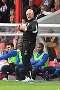 Oldham Athletic manager  Frankie Bunn during the EFL Sky Bet League 2 match between Grimsby Town FC and Oldham Athletic at Blundell Park, Grimsby, United Kingdom on 15 September 2018.