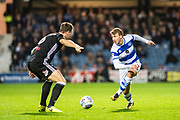 Fulham (6) Kevin McDonald, QPR (12) Jamie Mackie during the EFL Sky Bet Championship match between Queens Park Rangers and Fulham at the Loftus Road Stadium, London, England on 29 September 2017. Photo by Sebastian Frej.