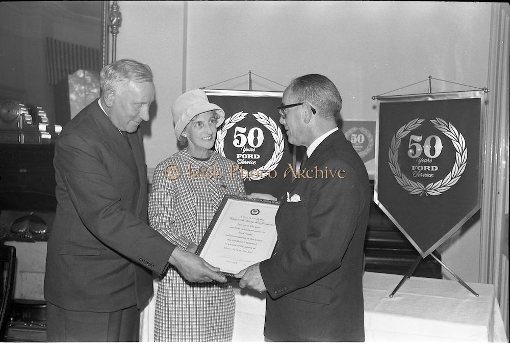 19/06/1963.06/19/1963.19 June 1963.Ford 50 year Service Awards at Shelbourne Hotel, Dublin. Service awards presented to Ford dealers, Vickery's (The Bantry Motor Garage Co.)