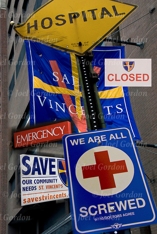 The closing of Saint Vincents was one of the city's oldest hospitals and was esteemed for its emergency care.