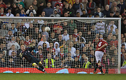 Manchester, England - Thursday, April 26, 2007: Liverpool's goalkeeper David Roberts watches as Manchester United's captain Sam Hewson skies his penalty over the bar as Liverpool win the FA Youth Cup on penalties during the FA Youth Cup Final 2nd Leg at Old Trafford. (Pic by David Rawcliffe/Propaganda)