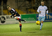 Dundee's Craig Wighton and Forfar's Martyn Fotheringham - Forfar Athletic v Dundee, Martyn Fotheringham testimonial at Station Park, Forfar.Photo: David Young<br /> <br />  - © David Young - www.davidyoungphoto.co.uk - email: davidyoungphoto@gmail.com