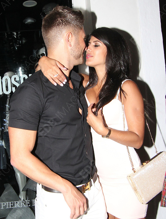 TOWIES JASMINE WALIA SEEN KISSING BOYFRIEND ROSS WORSWICK THEN JASMINE WAS SEEN KISSING DANIELLE ARMSTRONG FROM TOWIE IN MARBELLA SPAIN LEAVING TIBU NIGHTCLUB AT 4AM LOOKING VERY WORSE FOR WEAR. MONDAY 9TH JUNE 2014 - MAGICMOMENTSUK - 07753 30 30 77