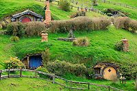 Hobbiton, near Matamata on the north island of New Zealand, is the home of the movie set used in the movie series Lord of the Rings and The Hobbit.