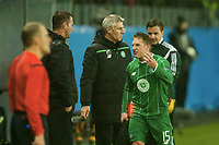 Fotball, 22 Oktober 2015, UEFA Europa League, Molde - Celtic ,  <br /> Kris Commons , Celtic og Ronny Deila<br /> Foto: Marius Simensen, Digitalsport,