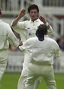 .Sport - Cricket - 22/06/02.Photo Peter Spurrier.Benson & Hedges - Final Lords Essex vs Warwickshire.Ronnie Irani, congratulated by team mates - bowled Nick Knight [Mandatory Credit: Peter Spurrier:Intersport Images]