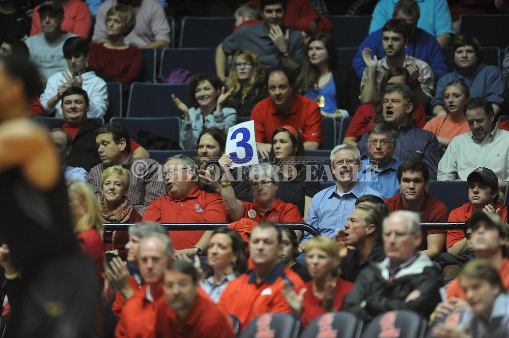 """Ole Miss vs. Missouri at the C.M. """"Tad"""" Smith Coliseum on Saturday, January 12, 2013. Ole Miss defeated #10 ranked Missouri 64-49."""