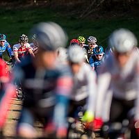 WOODSTOCK, VA - MAR 5: Ben rides in the back of the pack at the start of the road race, the 3rd stage of the Tour of the Southern Highlands stage race on Sunday, Mar. 5, 2017 in Woodstock, Ga. (Photo by Jay Westcott/The News & Advance)
